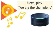 Якзмусити Amazon Alexa грати музику зGoogle Music, хоч вона цього йнехоче