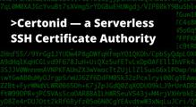 Certonid— SSH центр сертификации, который работает наAWS Lambda