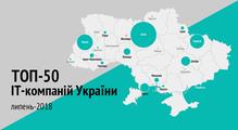 ТОП-50ІТ-компаній України, липень-2018: стабільне зростання та50тисяч спеціалістів