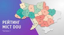 Рейтинг міст DOU. Детальний аналіз 22українських міст