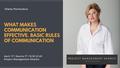 "Митап ""What makes communication effective. Basic rules of communication"""