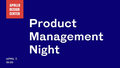 Online-conference Product Management Night