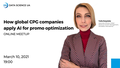 "Webinar ""How global CPG companies apply AI for promo optimization"""