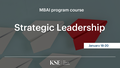 Strategic Leadership Course