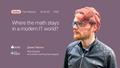 Tech Beetup: Що треба знати про математику в сучасному IT?