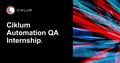 Ciklum Automation QA Internship: last day to register
