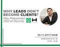 """Воркшоп """"Why leads don't become clients?"""""""