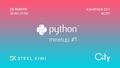Python Meetup #1