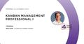 Cертификационный тренинг Kanban Management Professional I