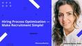 SunveryMeetUp #2. Hiring Process Optimization — Make Recruitment Simple!