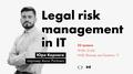 """Лекція """"Управління юридичними ризиками в ІТ"""""""
