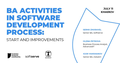 BA Activities in Software Development Process: Start & Improvements