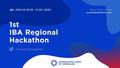 1st IBA Regional Hackaton