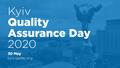 [Пройде онлайн] Kyiv Quality Assurance Day 2020