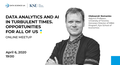 "Вебінар ""Data analytics and AI in turbulent times. Opportunities for all of us"""