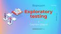 Воркшоп: Exploratory Testing