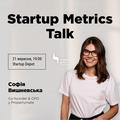 Startup Metrics Talk