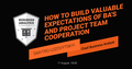 """Вебінар """"How to build valuable expectations of BA's and project team cooperation"""""""