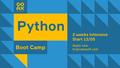 Free COAX Python Boot Camp