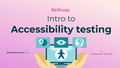 "Вебінар ""Intro to Accessibility testing"""
