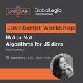 """JavaScript-воршкоп """"Hot or Not: Algorithms for JS devs"""""""
