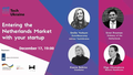 MeetUp: Entering the Netherlands Market with your Startup