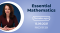 """Онлайн-курс """"Essential mathematics"""""""