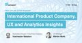 "Вебінар ""International Product Company. UX and Analytics Insights. JustAnswer"""