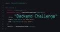 Backend Challenge