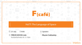 F(cafe): HoTT: The Language of Space