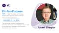 Тренинг по управлению продуктами Fit-For-Purpose (F4P) c Алексеем Жегловым
