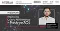 """Вебінар: """"Improving Query Performance in PostgreSQL"""". Тарас Кльоба"""