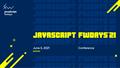 Конференція JavaScript fwdays'21