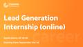 Lead Generation Internship (Upwork)