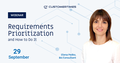 """Webinar """"Requirements Prioritization and How to Do It"""""""