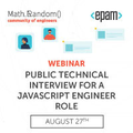 Webinar: Public technical interview for a JavaScript  engineer role