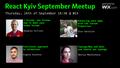 React Kyiv September Meetup