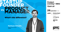 "MeetUp ""Startup Founder vs Product Manager. What's the difference?"""