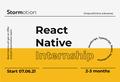 Безкоштовна React Native інтернатура з подальшим працевлаштуванням