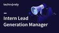 Lead generation manager internship