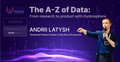 """Вебинар """"The A-Z of Data: From research to product with Hydrosphere"""""""