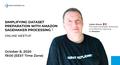 Simplifying dataset preparation with Amazon SageMaker Processing. Online meetup