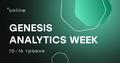 Genesis Analytics Week