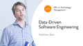 Зустріч із Matthew Bass: «Data-Driven Software Engineering»