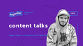 Content talks с Дмитрием Соболем