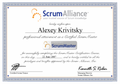 Agile Fundamentals with Scrum. Certified ScrumMaster and ICAgile Associate double certification at AGILEEE