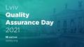 [Скасовано] Lviv Quality Assurance Day 2021