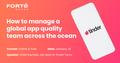 "Webinar ""How to manage a global app quality team across the ocean"""