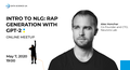 """Online Meetup """"Intro to NLG: Rap generation with GPT-2"""""""