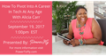 "Webinar ""How I Got Into Tech At Age 50 (and Featured by Apple)"""